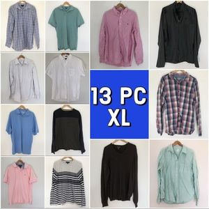 13 Pc Men's XL Wardrobe Upgrade Fall/Winter Bundle